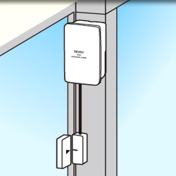 ドア窓センサー 超薄型マグネット 2枚の窓を1台で監視