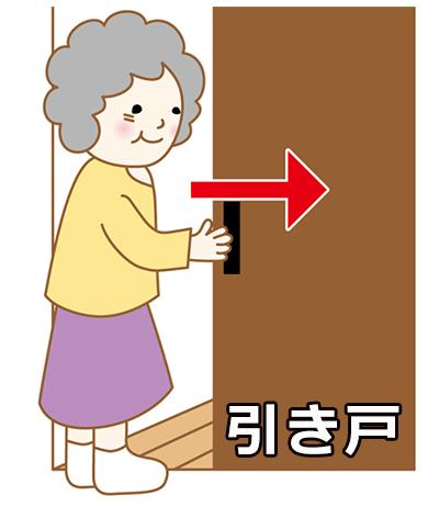 開閉センサーは引き戸に対応してます。