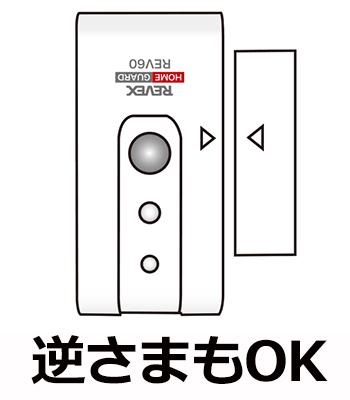 ドア窓送信機 逆さまの設置もOK