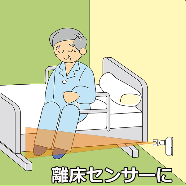 無線チャイム人感センサーチャイム 離床センサーに