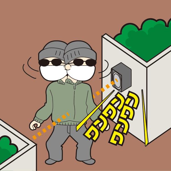 赤外線ビームセンサー 不信な人、泥棒に警告